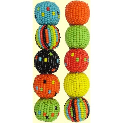 Fairtrade Liquorice Allsorts Spots and Stripes 16mm Beaded Beads