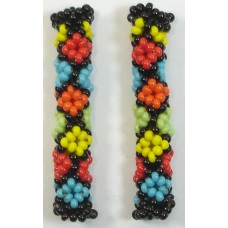 1 Jabulani Liquorice Allsorts Beaded Tube - Diamond Motif