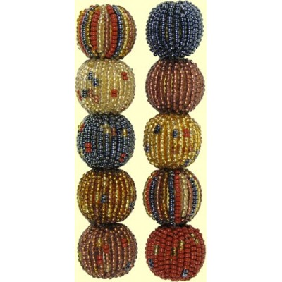 10 Fairtrade Golden Earth Mixed Pack 12mm Beaded Beads