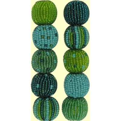 4 Serenity Spots and Stripes 16mm Beaded Beads