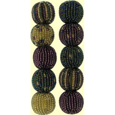 10 Fairtrade Shimmer Mixed Pack 10mm Beaded Beads