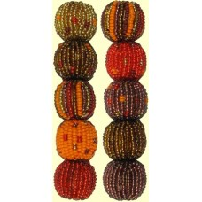10 Fairtrade Sunset Mixed Pack 10mm Beaded Beads