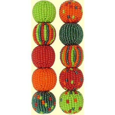 Fairtrade Caribbean Spots and Stripes 16mm Beaded Beads
