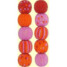 Fairtrade Pure Passion Spots and Stripes 16mm Beaded Beads