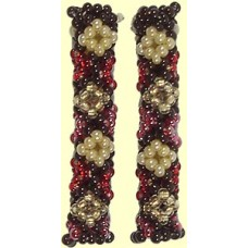 1 Fairtrade Hot Chocolate Beaded Tube - Diamond Motif