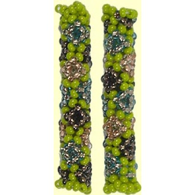1 Fairtrade Forest Fern Beaded Tube - Diamond Motif