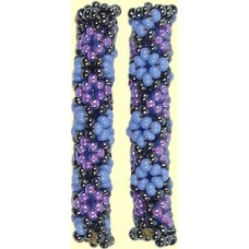 1 Fairtrade Cornflower Beaded Tube - Diamond Motif