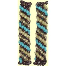1 Fairtrade Sand & Sky Beaded Tube - Spiral