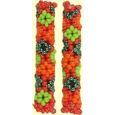 1 Fairtrade Caribbean Beaded Tube - Diamond Motif