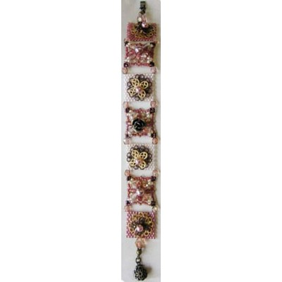 Toho Bead Artistry Kit (Off Loom Weaving) - Class 1 - Bracelet with Square Flower Motifs