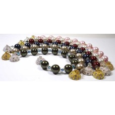Audrey Swarovski Pearls Bracelet Choice of Colourways