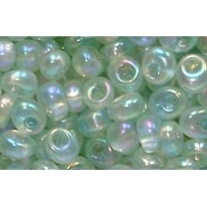 25gr Pale Green AB Magatama Beads