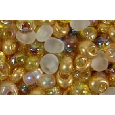 25gr Butterscotch Mixture Magatama Beads