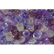 25gr Lavender and Lilac Mixture Magatama Beads