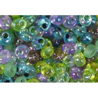 25gr Forest Mixture Magatama Beads