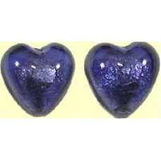 1 Murano Glass Aventurine Purple Velvet Lentil