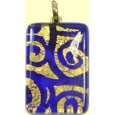 Italian Glass Oblong Pendant Medium Oblong Sapphire
