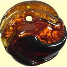 1 Topaz Murano Glass Pendant