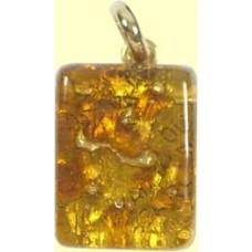 Italian Glass Pendant Small Oblong