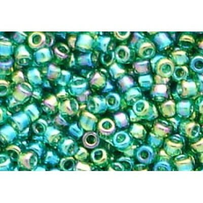25gr Forest Green Rainbow Treasure 11/0 Rocailles