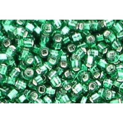 25g Matsuno Silver Lined Emerald 11/0 Rocailles