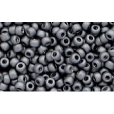 25g Matsuno 11/0 Matte Dark Grey Rocailles
