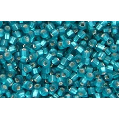 25gr Matsuno 11/0 Rocailles - Silver Lined Matte Turquoise