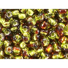 25gr Matsuno 4mm Irregular Rocailles - 2-Tone S/L - Topaz Olivine