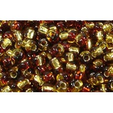 25gr Matsuno 4mm Irregular Rocailles - 2-Tone S/L - Amber and Topaz