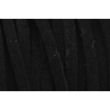 Black Simulated Suede Cord - 1 Metre Cut Length