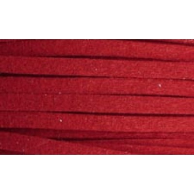 1m of 3mm Simulated Suede Claret Red