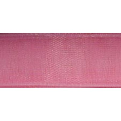 1m 9mm Rose Pink Organza Ribbon