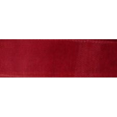 1m 9mm Claret Red Organza Ribbon