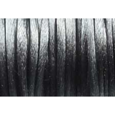 5 metres Dark Grey Satin Rattail