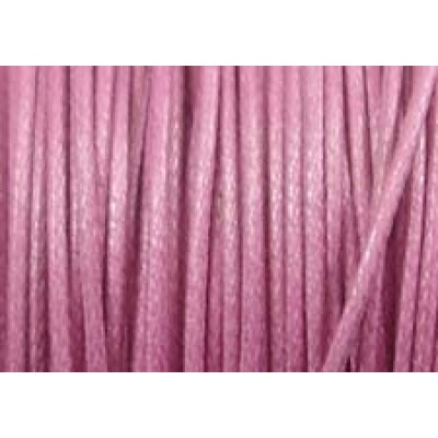 5 Metres Dusty Rose Pink Waxed Cord