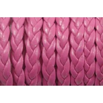 30 cm Flat Braided Faux Leather Pink