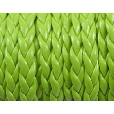30cm Flat Braided Faux Leather Apple Green