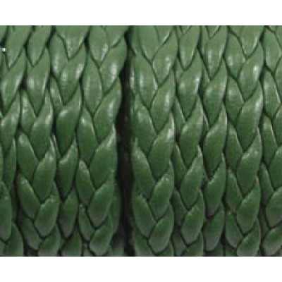 30cm Flat Braided Faux Leather Hunter Green