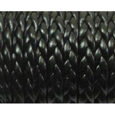 30 cm Flat Braided Faux Leather Black