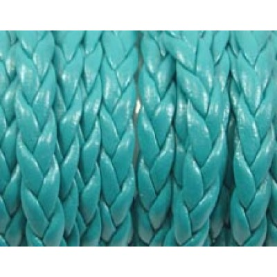 30cm Flat Braided Faux Leather Blue