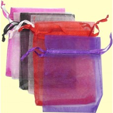 Pack of 6 Small Organza Jewellery Bags