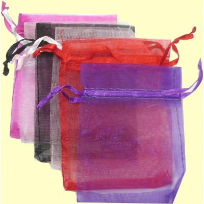 Pack of 5 Medium Organza Jewellery Bags