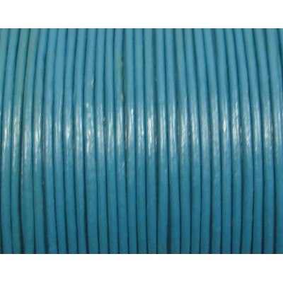 1 Metre 1.5mm Round Leather Cord Teal
