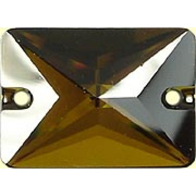 1 Swarovski Crystal Tabac Oblong Sew On Stone