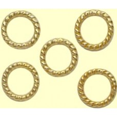 10 Soldered Twisted Rope Vermeil Rings