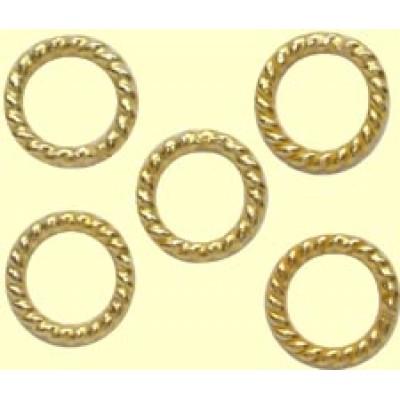 10 Soldered Twisted Rope Vermeil Rings